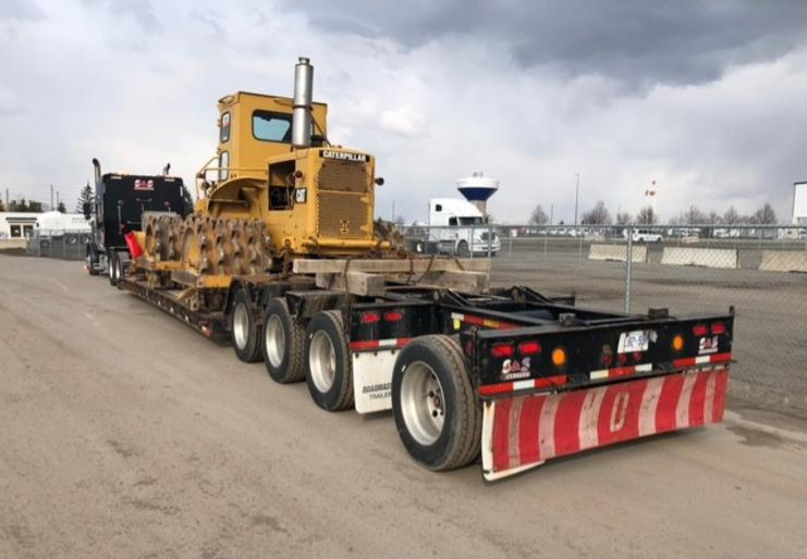 flatbed with tractor transportation canada